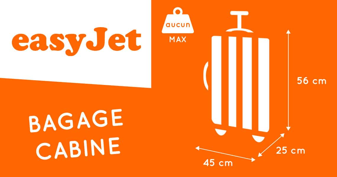 poids bagage cabine easyjet