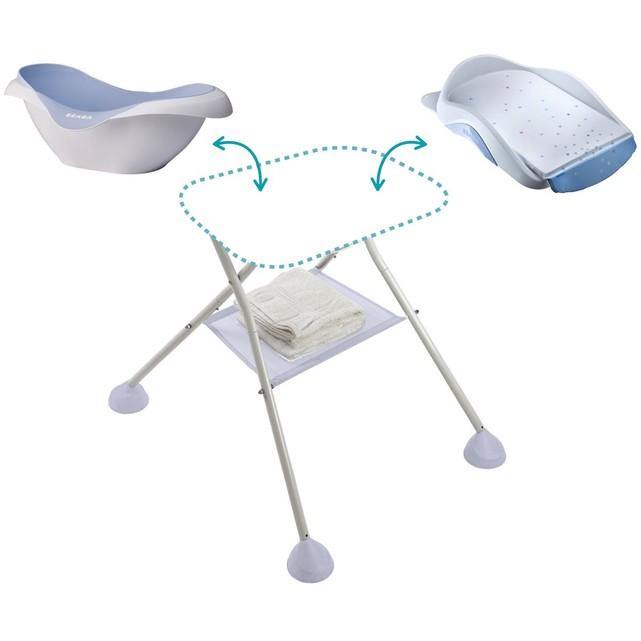 baignoire bébé sur pied pliable