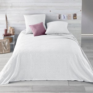 dessus de lit blanc