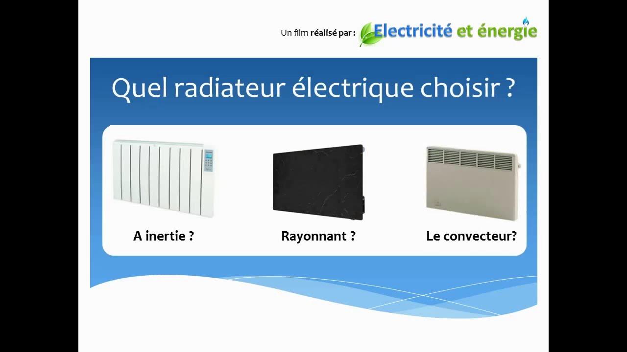 quel radiateur electrique