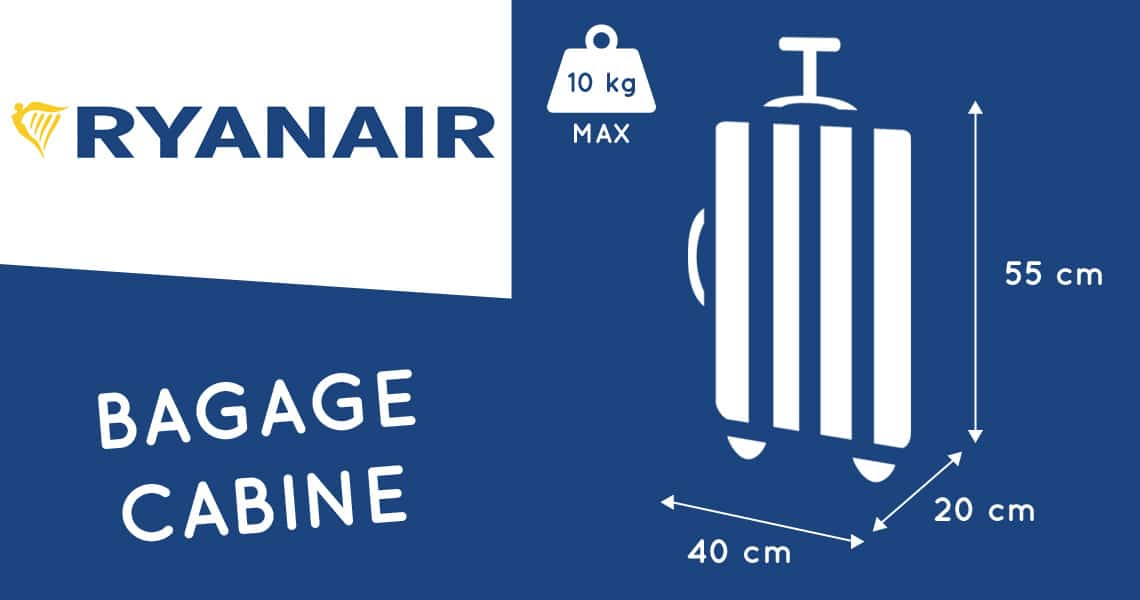 ryanair valise cabine dimension