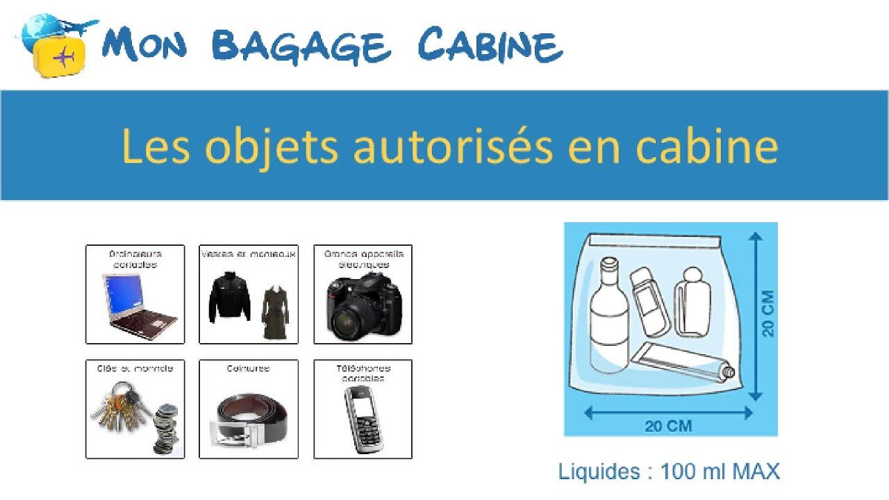 bagage autorisé en cabine