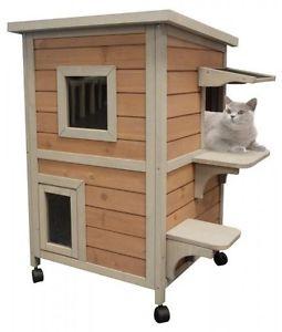 cabane chat exterieur