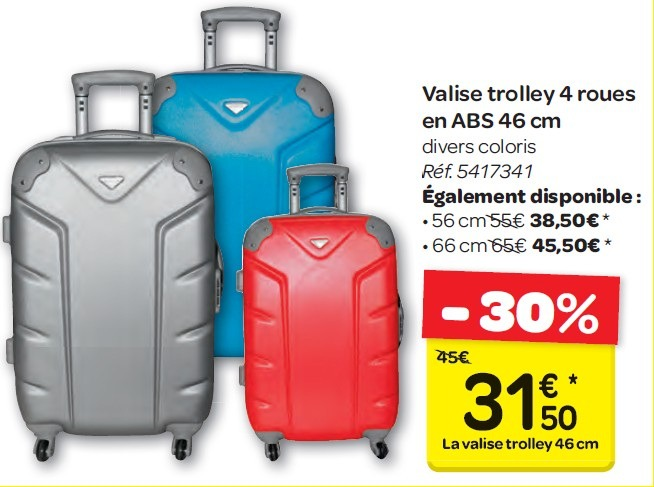 valise carrefour 4 roues ... valise cabine fille carrefour ?