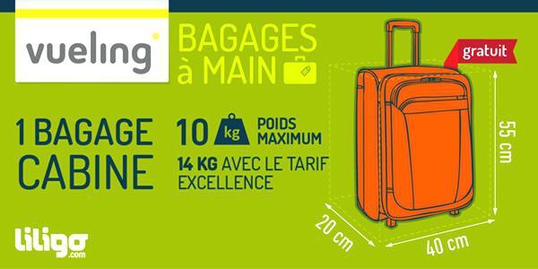 dimension bagage a main